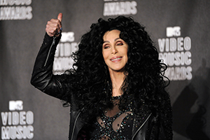 Cher poses in the press room at the MTV Video Music Awards on Sunday, Sept. 12, 2010 in Los Angeles. (AP Photo/Chris Pizzello)